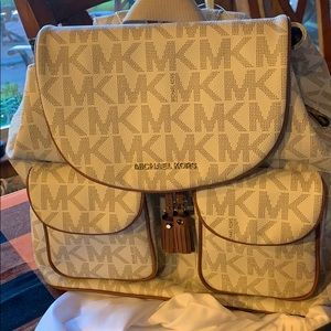 Michael Kors backpack 15x15 NWOT with dust cover